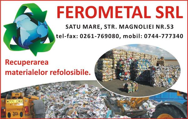 FEROMETAL SRL - Firmă de colectare și reciclare deșeuri în Satu Mare, județul Satu Mare