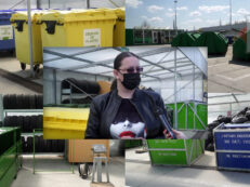 Centrul Municipal de Colectare Iasi si Ana Maria Schiopu sefa biroului de managemnt al mediului Salubris SA